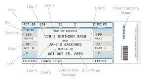 Free Concert Ticket Template Classy Concert Ticket Template Free Printable Fair Templates The Best