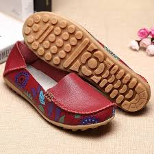 Socofy Size Chart Socofy Us Size 5 10 Women Flat Flower Casual Outdoor Soft Slip On Leather Loafer Shoes
