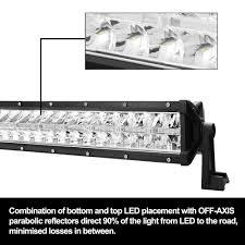 Parabolic Led Lights Lightfox 22inch Led Light Bar 1 Lux 680m Ip68 48000 Lumens