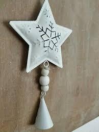 Deko Stern Zum Hängen Weihnachten Fenster Wand Shabby Weiß