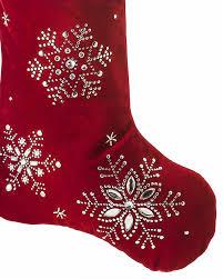 snowflake christmas stockings. Wonderful Snowflake Beaded Snowfall Christmas Stocking On Snowflake Stockings