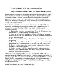 essay writing tips to antigone essay help start your 48 hour trial to access our antigone study guide along more than 30 000 other titles
