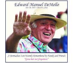 Edward DeMello Memoriam - Hamilton, Bermuda | The Royal Gazette