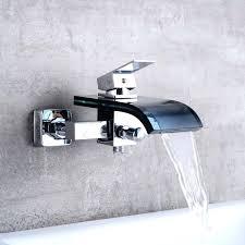 wall mounted bathtub faucets 2019 waterfall black glass and chrome brass faucet wall mounted wall mounted