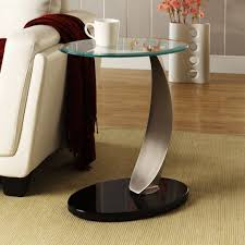 unique metal and glass end tables painting for your house round transpa