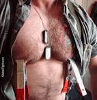 Hunk nipple clamped gay bondage