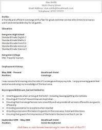 wonderful design concierge resume 13 concierge resume objectives