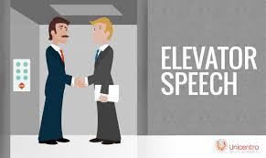 elevator speech en segundos unicentro 30 dec elevator speech en 20 segundos unicentro