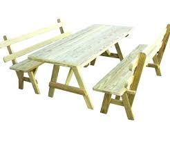 wooden picnic table plan round
