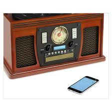 victrola wooden 8 in 1 nostalgic record player with bluetooth and usb encoding mahogany com