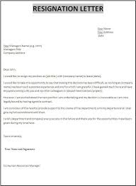 Resignation Letter With Resignation Letter Format Doc Free Download