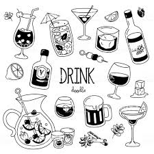 Cocktail Doodle Hand Drawing Styles Of Drink Stock Illustration Download Image Now