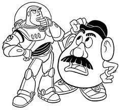 Small Picture Buzz lightyear coloring pages and mr potato head ColoringStar