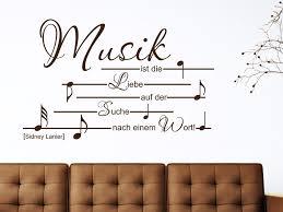 Verschnörkeltes Wandtattoo Zitat Musik Ist Von Wandtattoonet