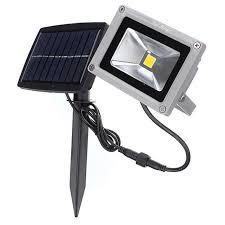youoklight 10w warm white solar waterproof outdoor led flood light