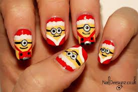 NailDeesignz: Christmas Minion Nail Art