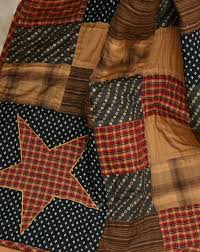 14 best Americana Style images on Pinterest | Blankets, Block ... & Primitive Americana Tea Stain Patriotic Patchwork Quilt Throw timeless  patchwork accented with stars in Warm Tea Stain Gold, Navy Blue, Russett  Red with a ... Adamdwight.com