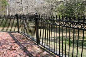 wrought iron fence designs with black paint color