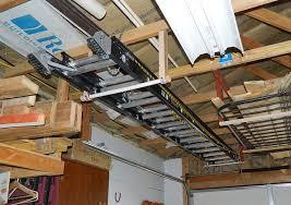 an extension ladder in a garage