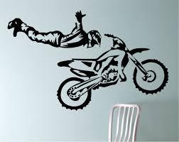 Motocross Bedroom Decor Dirtbike Wall Decal Motocross Sticker The Ojays Boy Rooms
