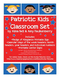 Free Printable Patriotic Kids Pocket Chart Calendar And Pledge Of Allegiance