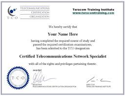 Ctns Certified Telecommunications Network Specialist Certification