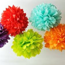 Crepe Paper Flower Balls Birthday Decorations From Crepe Paper Decoration Tissue