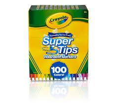 Crayola Supertips 50 Color Chart Washable Super Tips Markers 100 Count Crayola Com Crayola