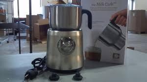 breville café electric frother food coffee breville bmf600ref café frother and hot chocolate maker reconditioned