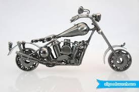 scrap metal art handmade nuts bolts pillion seat motorbike model