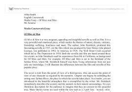 men essay help of mice and men essay questions