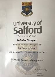 about brad george health bachelor of arts second class honours divion one in sport and leisure management