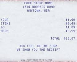 Fake Receipt Maker Free Custom Receipt Maker