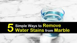 to remove water stains from marble
