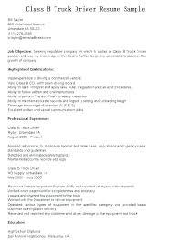 Delivery Driver Resume Sample Truck Driver Resume Sample Resume For