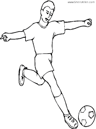 Small Picture Soccer Ball Coloring Pages soccer player kicking ball coloring