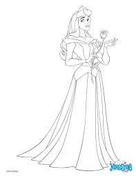 Voici Un Beau Coloriage De Aurore La Princesse Disney De La Belle