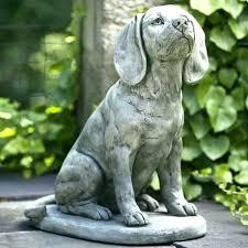 dog garden statues chocolate lab hills