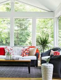 sunroom furniture designs. Coastal Sunroom Design With Sofa And Decorative Pillows Furniture Designs