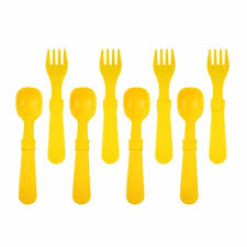 re play made in the usa 8 count spoon and fork utensil set for baby