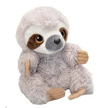 dels about sloth hand puppet soft plush toy 10 25cm stuffed wild republic new