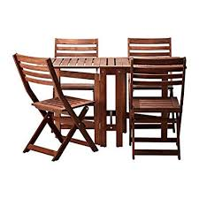 outdoor ikea furniture. Unique Outdoor IKEA Applaro Table 4 Folding Chairs Outdoor Brown And Outdoor Ikea Furniture O
