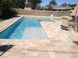classic travertine pool tiles