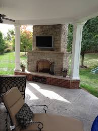 covered patio designs with fireplace. Covered Patio With Outdoor Fireplace Designs