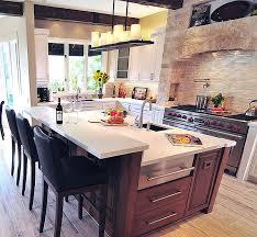 View in gallery Mediterranean kitchen design with modern island