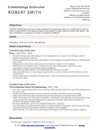 Cosmetology Sample Resume Cosmetology Instructor Resume Samples Qwikresume