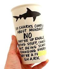 com mature shark eco travel mug handmade lennymud