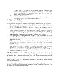 Robert Rules Of Order Meeting Minutes Template Templates