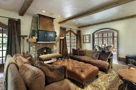 a comfortable living room with a set of large furniture the ottoman in particular