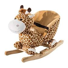 plush rocking chair. Fine Plush Qaba Kids Plush Rocking HorseStyle Giraffe Theme Chair Throughout G